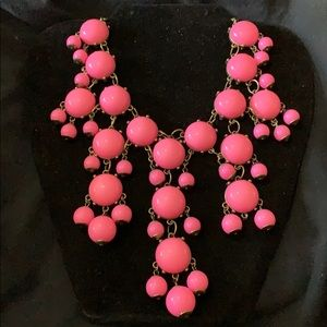"""PINK & BRONZE BUBBLE NECKLACE W/ A """"D"""" HANG TAG"""